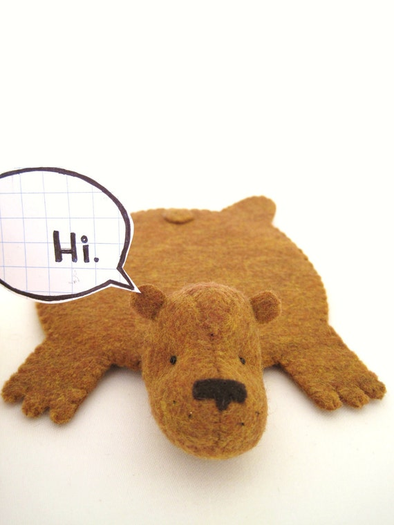 "Reserved for ""Madina', Bear Rug Coaster (tan)"
