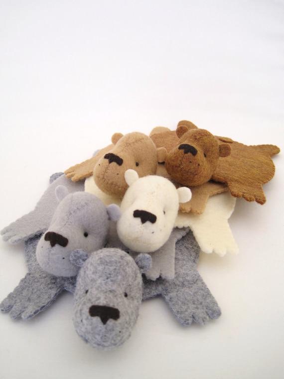 Bear Rug Coaster (Set of FIve)