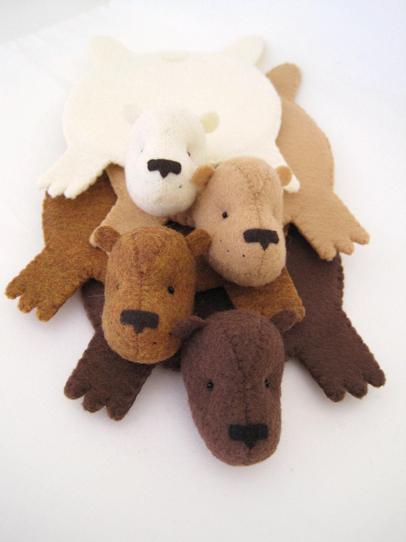 Bear Rug Coaster Set Of Four