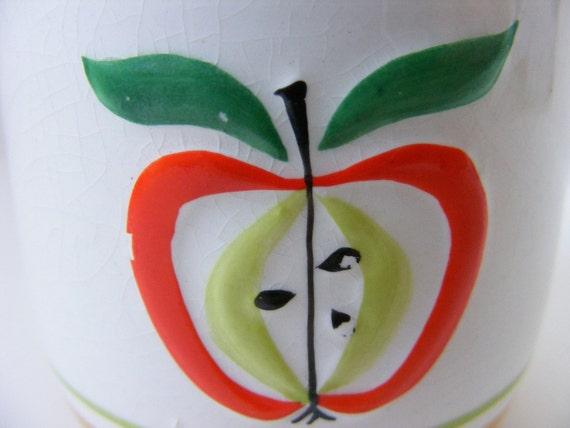Sugar Bowl Holt Howard Apple Mustard Red 1962