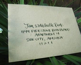 Wedding Calligraphy Envelope Addressing - featherletter PRINT