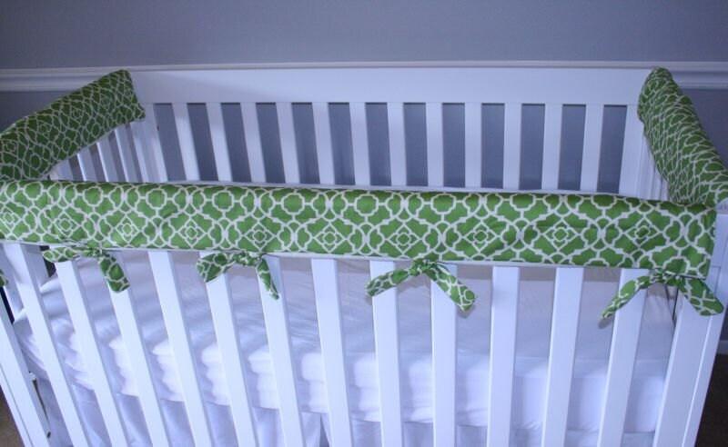 Padded Cloth Crib Rail Protector Cover Teething Guard Set Of