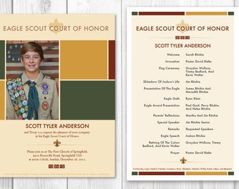 Eagle Scout Invitations for Court of Honor/ Card American