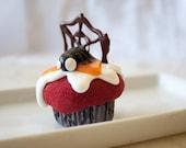 Halloween Spider Cupcake Orange Guts