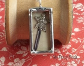 Free Shipping  Sterling  Silver Necklace Glitter Magic Wand Soldered charm on  My Fancy Finds