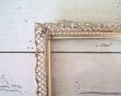 Vintage Filigree Frame Fleur Di Lis Shabby Cottage Chic