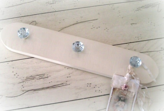 Wooden Coat Rack Wall Rack Jewelry Organizer Necklace Holder Belt Rack Key Holder Farmhouse