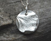 tiny silver ginkgo leaf, ginkgo necklace, ginkgo pendant, gift for her, eco friendly, birthday gift