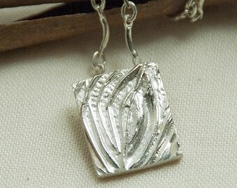 silver tree of life necklace, tree pendant, abstract, made in america