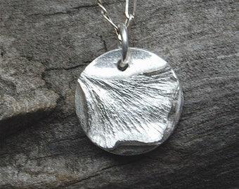 tiny silver ginkgo leaf, dainty pendant, mini necklace, ginkgo necklace, ginkgo pendant, gift for her, eco friendly, whisper chain, birthday