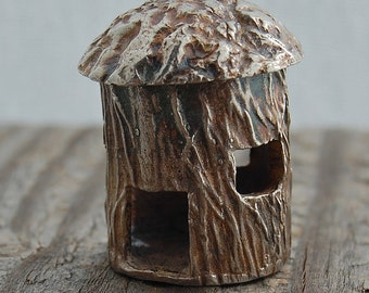 silver castle house, fairy house, bird house, desk sculpture, miniature, made in america, desk ornament, fine silver, birthday gift