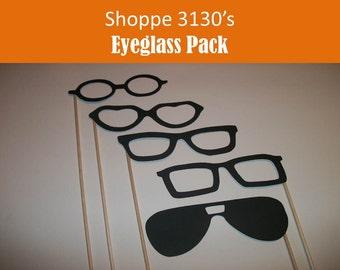 Glasses on a Stick Photo Prop Set of 12 DIY kit