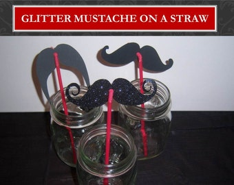 Mustache on a Straw Party Favor Set of 50