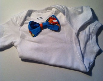 Cat in the Hat  Bowtie on a bodysuit style onesie or tee
