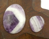 Clearance - 2 Cape Amythest Cabochons