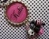 PERSONALIZED Pretty Pink Bottle Cap Pendant Necklace