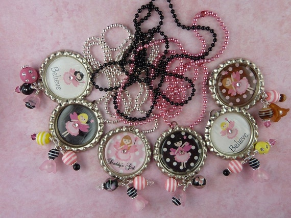 PERSONALIZED Fairytopia Bottle Cap Pendant Necklace-YOU CHOOSE