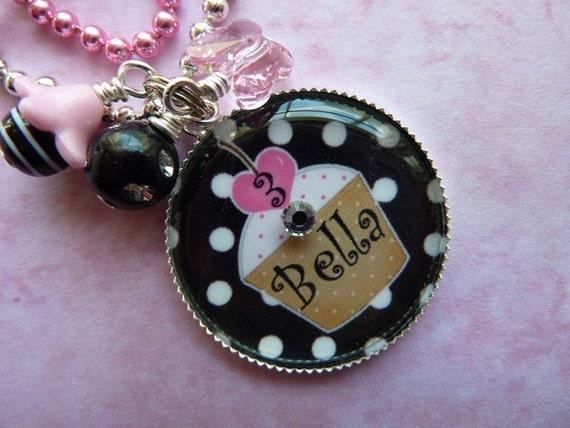 PERSONALIZED Birthday Girl Bezel Pendant Necklace