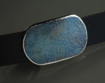 "Blue Jean Belt Buckle Hypoallergenic Accessories Men's & Women's Stainless Steel Denim Silver Accessories Signed Original fits 1-1/2""  Belt"