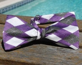Spiderweb Argyle Adjustable Length Bow-Tie