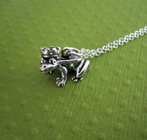 Frog Prince Charming Crown Royal Frog True Love Silver Charm