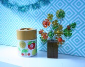 S A L E--Retro Shabby Chic Fruit Metal Canister Japan