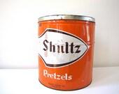 Vintage Pretzels Tin
