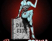 Beauty and Brains  Rockabilly Zombie Psychobilly clothing U pick size S-2x