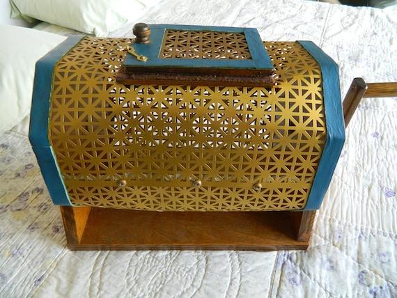 Vintage Bingo/Raffle Cage Handmade