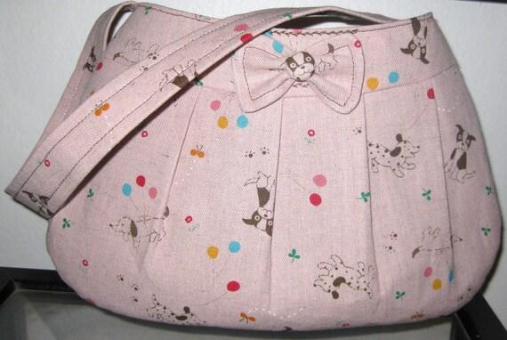 Japan Earthquake Relief  Kawaii  Boston Terrier Buttercup Bag