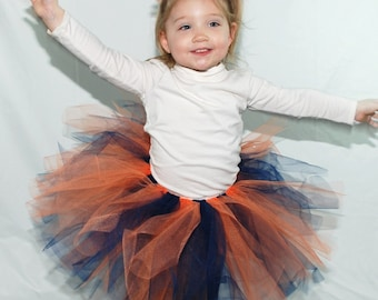 Chicago Bears or Denver Broncos Tutu and Hair Puff Clip Set - custom fitted for babies and children