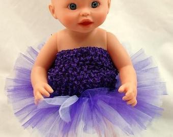 "Purple Paradise Doll Tutu - Fits 18"" Dolls, 15"" Dolls,and Baby Dolls"