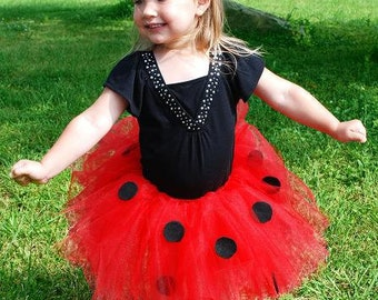 Ladybug Tutu - Custom fitted for babies and children