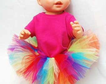 Rainbow Doll Tutu - Fits American Girl Dolls and My Generation Dolls Too