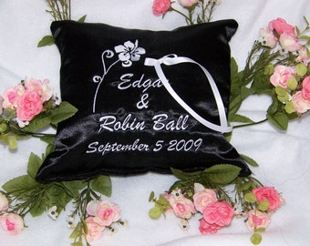 Personalized Ring Bearer Pillow, Personalized Wedding Pillow, Personalized Pillow, Bridal Gift