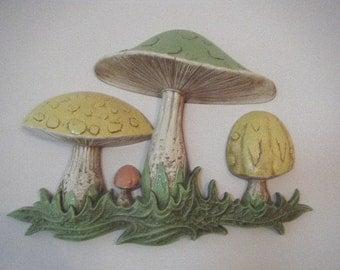 Big Mushroom Resin Wall Decor