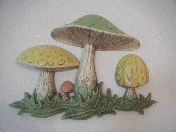 Big Mushroom Resin Wall Decor By Belruby On Etsy
