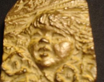 Vintage Solid Brass Bronze Putti Paperweight