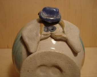 Vintage Pottery Pig Piggy Bank