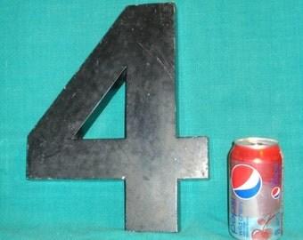 Vintage Large Cast Aluminum Number 4