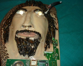 Steam Punk Circuit Board Man Wall Sculpture