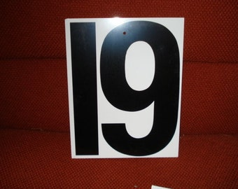 Vintage Double Side Sign Number 18 or 19 or 81 or 61
