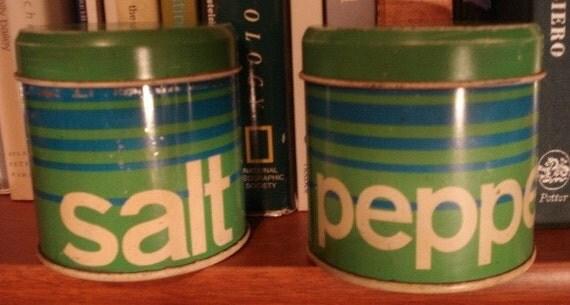 Vintage Mod Salt and Pepper Shakers