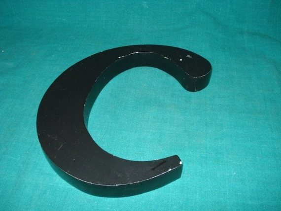 Vintage Little C Sign Letter