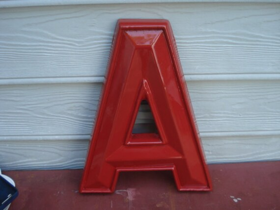 Vintage Large Drive In Movie Marquee Letter A