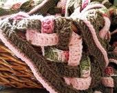 CROCHET PATTERN- Weaves Baby Blanket Instant Download