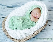 CROCHET PATTERN Infant Hooded Cocoon Photography Prop Instant Download