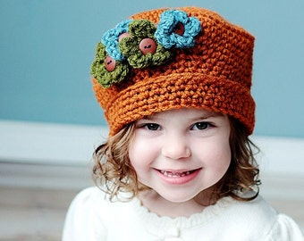 Crochet Pattern - Sweet and Sassy Hat (All sizes baby to adult) INSTANT DOWNLOAD