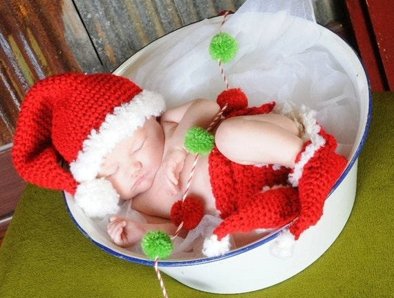 3 Piece Santa Set CROCHET PATTERN Photography Prop
