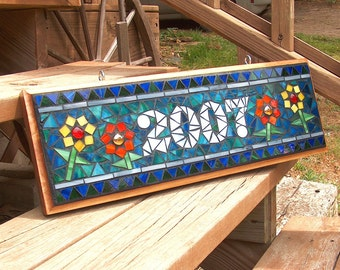 Mosaic Outdoor Sign / Plaque  - Name or Address